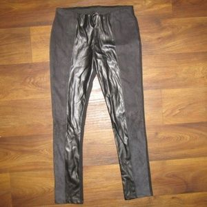Zara Black Pants Sz Large Faux Leather 90's Tight